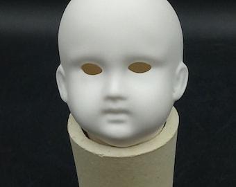 Porcelain, Shrubware, Sharpening, FSF-2 - Schmitt & Fils - Antoinette - Head, smouldened, fired, for painting, glazing