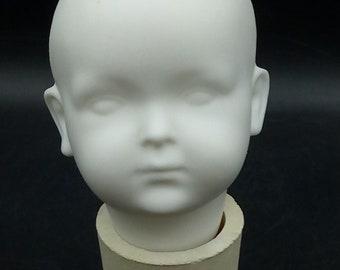 Porcelain, Shredded, Sharpening, DKH-5 - Kley & Hahn 536 - Head, scratbed, fired, for painting, glazing