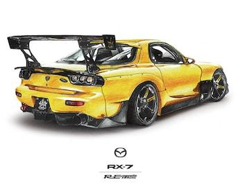 Mazda rx 7 | Etsy