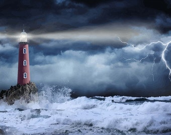 Be a Lighthouse in Someones Storm Kitchen Dish Towel