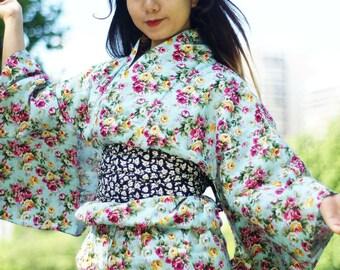 7c7bc02d533d1 Japanese kimono yukata (summer kimono) cotton belt (obi)
