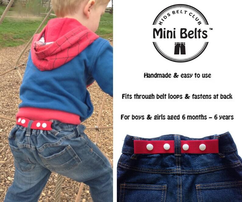 Mini Belts Childrens Handmade Accessories: Belts /& Braces Grey
