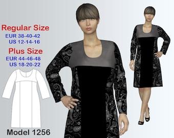 Dress Sewing Pattern PDF, Women's sizes 12-22, Knit Dress PDF Instant Download Sewing Pattern
