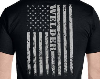 219956cc Welding Shirt, American Flag, Tig Mig Welder, Holiday Dad T-Shirt Graphic funny  welding shirt Gift For Him
