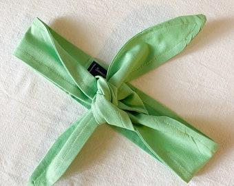 Grass Green Headband | Tie-On Headband | Women's Headband Head Wrap | Unisex