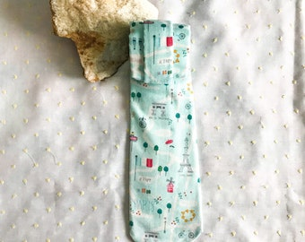 Paris Streets Necktie | Handmade Cotton Tie | Graduation Wedding Gift | Unisex Floral Tie | Paris France Brunch Tie