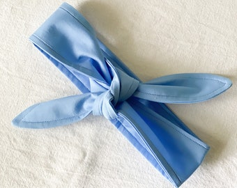 Sky Blue Headband | Tie-On Headband | Women's Headband Head Wrap | Unisex