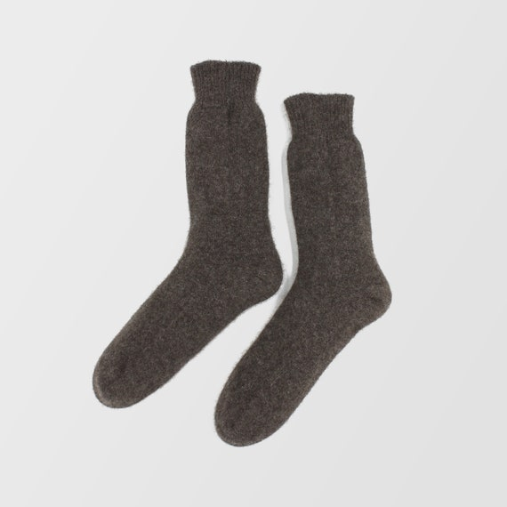 100/% Pure Cashmere Charcoal Grey Womens Socks Bed Socks Unisex Warm Pair