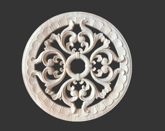 1 Piece Shabby Chic Wood Embellishments Ornate Furniture Apliques Wood Onlay Furniture Trim Supplies WA232