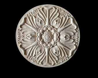 1 pezzo tondo rosetta applique shabby chic legno decorazioni etsy