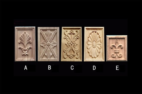 1 Piece Shabby Chic Wood Embellishments Ornate Furniture Apliques Wood Onlay Furniture Trim Supplies WA110