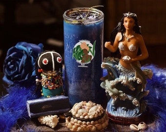 Yemoja's Healing Custom Fixed Candle - [Heal Emotions - Curar Las Emociones] - Santeria/Ifa/Yoruba