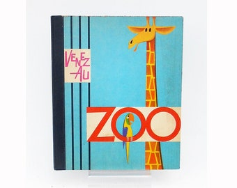 Old book pop up - Come to the Zoo - 1965 - Animated System Book - Illustrations R. Lukes