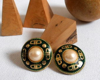 Clip on earrings vintage earrings - 60's-
