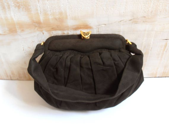 Real suede bag - 30s/40s