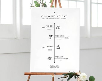 Order Of Events Wedding.Order Of Events Etsy
