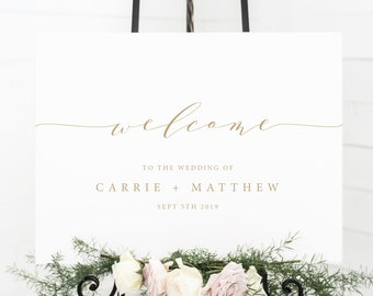 Editable Wedding Welcome Sign Template Printable Wedding Etsy