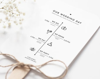 diy wedding program etsy
