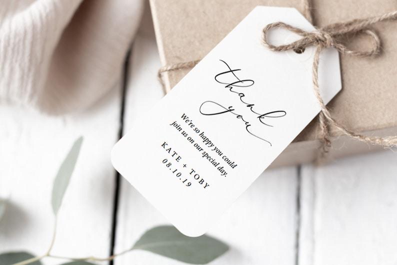 Printable Wedding Favor Tags Diy Wedding Favor Tags Template Etsy