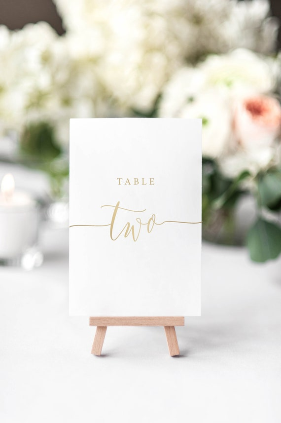 image regarding Diy Printable Table Numbers referred to as Rustic Natural beauty Gold Desk Quantities - Do it yourself Printable Wedding ceremony Desk Quantities, Wedding ceremony Template