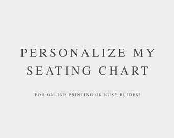 Personalize My Seating Chart