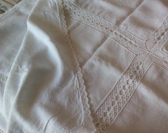 Antique Flanders tablecloth and crochet lace