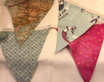 Mermaid bunting flags