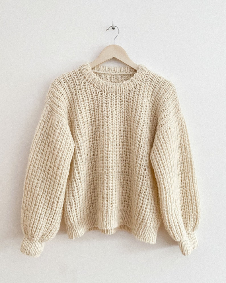 KNITTING PATTERN  Must Have Sweater image 0