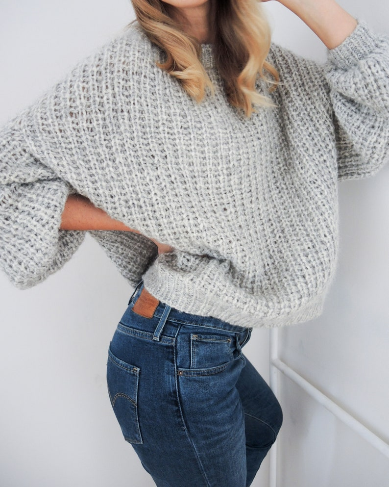 KNITTING PATTERN  Classic Alpaca Sweater image 0