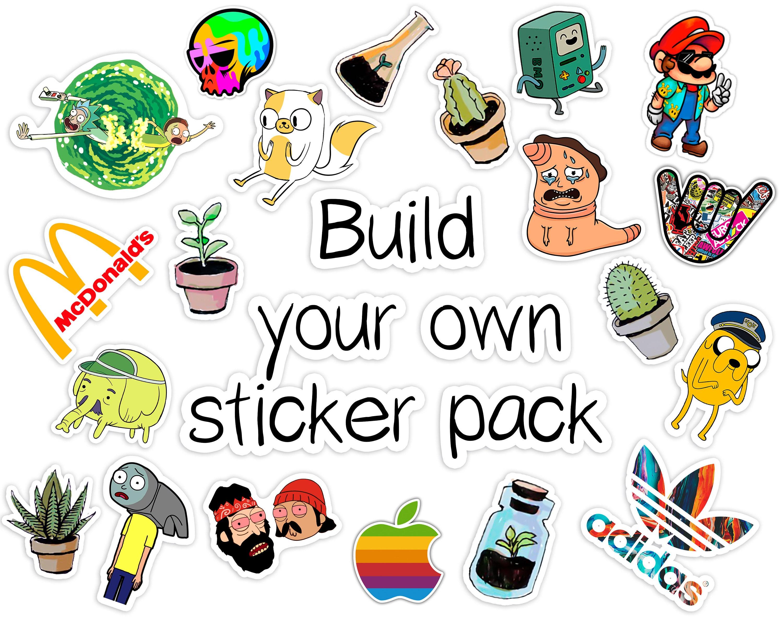 Custom sticker pack funny stickers vinyl stickers pack cute stickers pack of stickers iphone sticker sticker decal vinyl stickers mac book