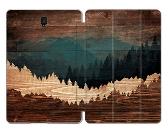 Wood Samsung cover S4 case Nature Forest Galaxy case Samsung s3 stand 10.1 inch tablet case Galaxy Tab S6 S5e Samsung tab A case s2 9.7 10.5