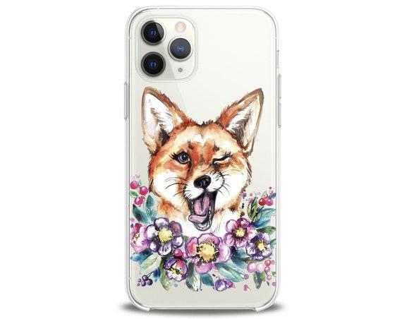 Fox Iphone Xr Case Iphone 11 Fox Case Blossom Print Flower Etsy