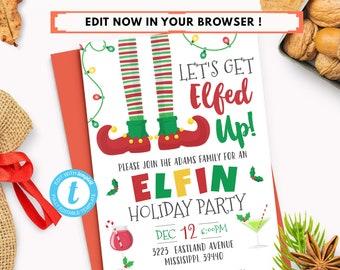 funny christmas party invitations etsy