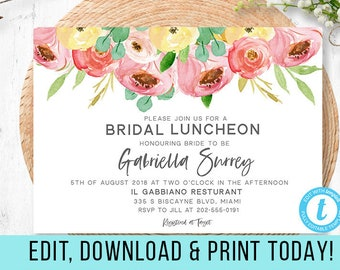 luncheon invitation etsy