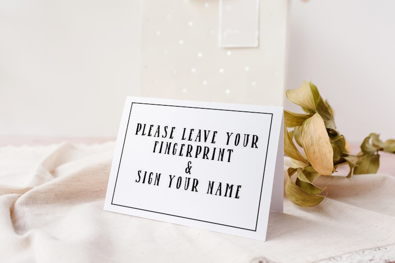 signature guestbook gender reveal party guestbook sign thumbprint guestbook neutral  gender neutral baby Gender neutral guestbook