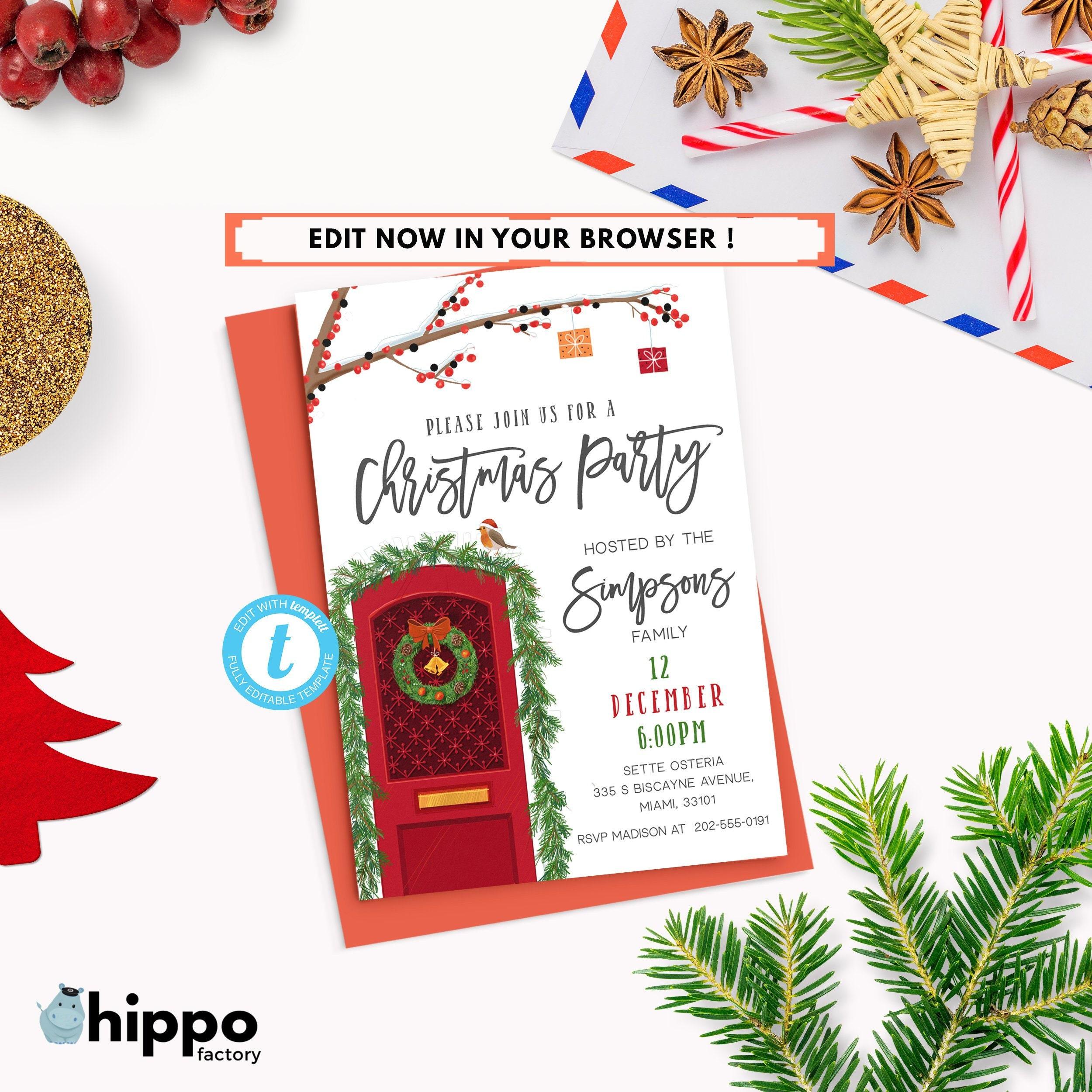 Leer en línea Christmas Invitation Card Template