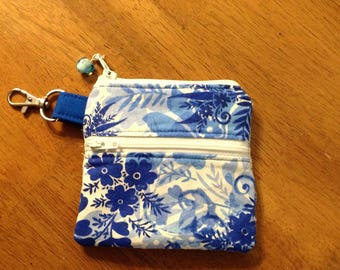 Small zipper pouch keychain, keychain, change purse, zipper pouch, credit card wallet, small zip pouch