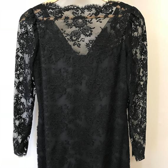 Vintage Black Lace Couture Gown