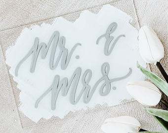 Mr. + Mrs. Place Card Set [2 Color Options Available]
