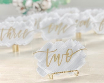 Acrylic Wedding Table Numbers [Wide]