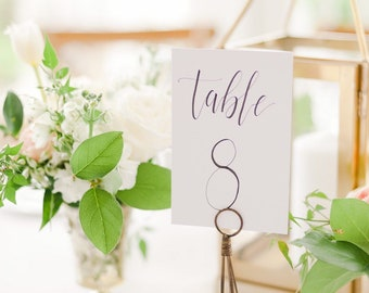 Cardstock Wedding Table Numbers [Tall]