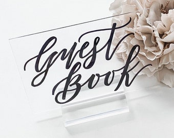 """Guest Book"" Wedding Sign"