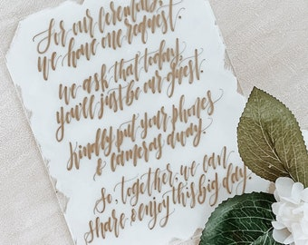 Unplugged Ceremony Wedding Sign [2 Options Available]