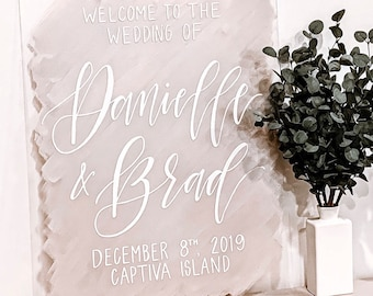 """Welcome To Our Wedding"" Bride & Groom Welcome Sign"