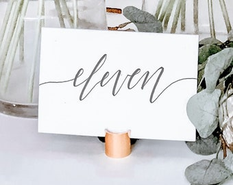 Cardstock Table Numbers [Wide]