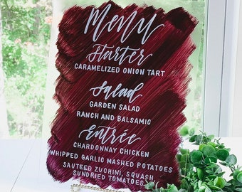 Dinner / Buffet Menu Wedding Sign