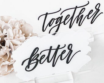 Better + Together Bride And Groom Place Card Set [White & Black]