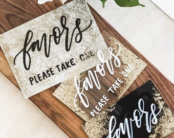 Favors Wedding Sign [3 Ready To Ship Options]