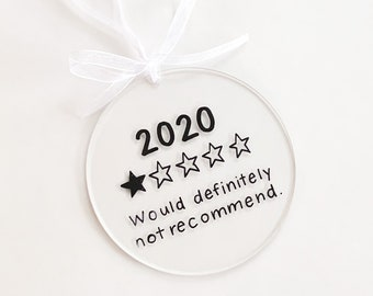 CLEARANCE | 2020 Review Ornament