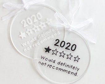 2020 One Star Review Christmas Ornament